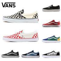96764f6b5ec67 Wholesale vans shoes canvas online - Original Vans Old Skool Sk8 Fear OG  classic Men Women