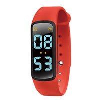 Wholesale tracker c resale online - U6 C Waterproof Pedometer Wrist Band Kids Fashion TPU Strap Music color LED Display Reminder Smart Bracelet Activity Tracker