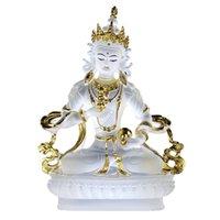 indien religiös großhandel-Buddhistisches Vajra Sattva Farbe glasiert Figur Statue Klassische Berühmte Indien Religiöse Rdo-rje sems-dpah Skulptur für Kristalldekoration Geschenk