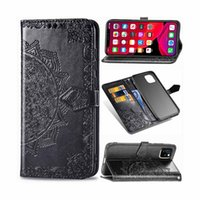 Wholesale bag iphone flower online – custom 3D Embossed Flower Phone Case For Apple iPhone Flip PU Leather Wallet Cellhone Bags Cover for iphone Pro Max XS XR plus