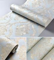 europäischer stil tapeten rollen großhandel-10 Mt * 0,53 CM Europäischen stil vliestapete klassische wandpapierrolle wandverkleidung luxus tapete
