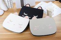 ipad cats kasa kapağı toptan satış-Moda Sevimli Kedi PU Deri Kapak Tablet iPad 4 için Standı Pro 11 10.5 Mini 4 5 Çevirme Karikatür Koruyucu Kılıf Çanta