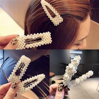 chica rojo sombreros de moda al por mayor-Versión coreana de la perla de imitación hecha a mano Ceremonia de compromiso Joyas de boda Moda estilo ins beat Street Accesorios para el cabello D1