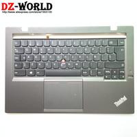 lenovo espanhol venda por atacado-Es spa espanhol backlight teclado com palmrest touchpad nfc para lenovo thinkpad x1 carbono segundo gen2 teclado 04x6572 00hm010