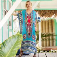 amerikanische kleider großhandel-Designer Frauen kleiden Luxus südamerikanischen Stil gedruckt Casual Fashion Kleid Kleid in Übergröße freie Größe unterschiedlicher Farbe erhältlich