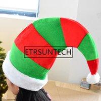 eec0eb8e520d5 Wholesale christmas elf hats for sale - 50pcs Striped Christmas Elf Hats  Merry Christmas Caps Hat