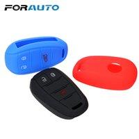 reemplazo de la cáscara del coche clave al por mayor-FORAUTO Car Key Shell Remote Remote Soft Fob Cover Car Key Protector Bag Case Reemplazo 3 botones Car-styling para Alfa Romeo
