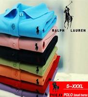 ingrosso nuova moda progettazione-2019 New Polo Shirts Fashion Design manica corta da uomo in cotone traspirante Slim Fit Mens T-Shirt Plus Size 4XL 5XL