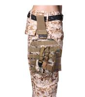 ingrosso borse a gambe-Outdoor Tactical MOLLE Drop Leg Bag Pannello piattaforma con fondina per pistola Borsa per caricatore regolabile in nylon