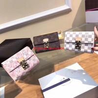bayanlar için cüzdan tasarımı toptan satış-Kadın cüzdan boyutu 15 * 10 çevirme tarzı moda bayan çanta sikke kaliteli donanım tasarım kart paketi
