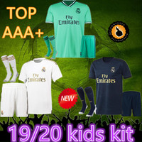 Wholesale real madrid home socks resale online - top Real Madrid kids socks Soccer Jerseys HAZARD home Soccer shirt MODRIC ASENSIO VINICIUS JR ISCO KROOS Football uniform