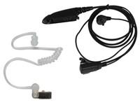 gizli telsiz konuşmaları toptan satış-Gizli Akustik Tüp Kulaklık Kulaklık Mikrofon Motorola İki Yönlü Taşınabilir Radyo Için PTT MTX850 MTX900 MTX950 MTX960 MTX8250 Walkie Talkie