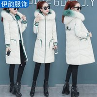 Wholesale green knee pads resale online - Cotton padded Clothes Women s Mid length Winter New Style WOMEN S Dress Korean style Slim Fit over the Knee down Jacket Cot