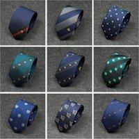 neue hochzeitsmuster männer großhandel-Neue Formale Krawatten Für Männer Klassische Biene Muster Wild Party Krawatte Mode Dünne 7 CM Hochzeit Business Männlichen Beiläufigen Gravata Drop Shipping