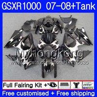 tanques suzuki al por mayor-7Gifts + Tank Llamas plateadas para SUZUKI GSXR-1000 K7 GSX-R1000 GSXR 1000 07 08 301HM.22 GSXR1000 07 08 Carrocería GSX R1000 2007 2008 Carenados