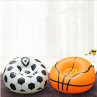fußballspielzeug pvc großhandel-Beflockung Inflation Fußball Basketball Sofa PVC Apartment Heimtextilien Sofa Einzelne Person Weiche Sofa Air inflation spielzeug