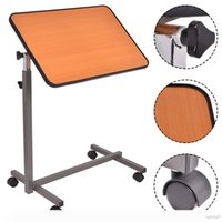Wholesale Overbed Rolling Table Over Bed Laptop Food Tray Hospital Desk With Tilting Top