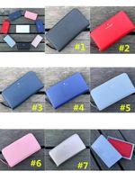 Wholesale dhl clutch resale online - Women s KS PU Leather Wallets Designer Trendy Brand Wristlet Purses Zipper Clutch Bag Outdoor Travel Bags Handbags Colors DHL B2153