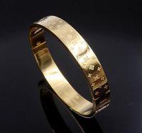 asiatische tops großhandel-Neue Ankunft Top Qualität Gold / Silber / Rose Gold Bangles Schwarzes Gold Überzogenes Armband Edelstahl Armbänder