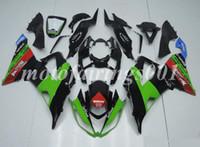 carenado para kawasaki ninja rojo zx6r al por mayor-OEM calidad del nuevo ABS Carenados Moldes de Inyección kits de Ajuste para Kawasaki Ninja ZX6R ZX6R 599 2013 2014 2015 2016 2017 Carrocería establece Verde Rojo