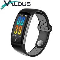 смартфон ip68 оптовых-Valdus Q6 Smart Fitness Activity Tracker Band Heart Rate Monitor Wristband IP68 Waterproof Smart Bracelet For Android IOS Phone