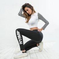 beyonce baskı toptan satış-2019 Sıcak Bayanlar Beyonce IVY PARKı Mektuplar Baskı Nefes Streç Uzun Pantolon Sıska Tayt Womens Atletik joggers toptan