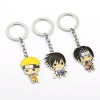 naruto anahtarlık anime toptan satış-NARUTO Anahtarlık Uchiha Sasuke Itachi Anahtarlık Tutucu Chaveiro Araba Anahtarlık Kolye Anime Takı Hatıra