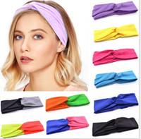 a60359869ba07 12pcs lot Many Color For Women Elastic Absorb sweat Boho Hair Head Wraps Accessories  No Slip Wide sports yoga Hairband Headbands