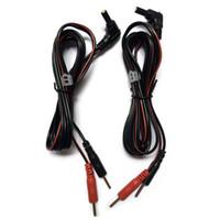 electrodos de decenas de unidades al por mayor-Cables de electrodo de repuesto de 100pcs / lot TENS - Cables de conector de cabeza de CC de 2,35 mm conectan TENS 3000, 7000 unidades o máquina de fisioterapia