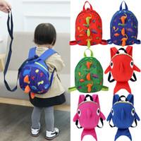 657a2c8e3a11 De dibujos animados para bebés, niños, niños y niñas, mochilas escolares,  mochilas, anti arneses, correas, tiburones para niños pequeños, bolsas de  ...