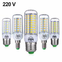 e14 maïs led ampoules 8w achat en gros de-Plein nouveau ampoules LED E27 E14 5W 8W 10W 15W SMD 5730 maïs ampoule 220V lustre LED bougie lumière Spotlight