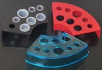 máquina de copos de plástico venda por atacado-10 pcs Estilo Fã De Plástico Tampão Da Tinta Da Cor Misturada / Titular do Copo Para Kits de Abastecimento Da Arma Da Máquina de Tatuagem