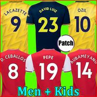 camisetas de fútbol al por mayor-Tailandia Arsenal soccer jersey football shirt camiseta de fútbol 19 20 PEPE AUBAMEYANG LACAZETTE 2019 2020 Camiseta Xhaka Özil kit chandal de fútbol uniformes tercera de la