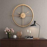 mur regarder silencieux achat en gros de-2019 Bref 3d Style Européen Silent Watch Horloge Murale Design Moderne pour Home Office Décoratif Suspendu Horloges Mur Décor À La Maison