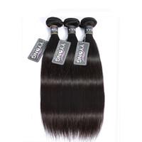 7a sınıf bakire insan saçı brazilian toptan satış-Sınıf 7A Brezilyalı Düz Saç Virgin İnsan Saç Örgüleri Demetleri Doğal Renk Çift Atkı Işlenmemiş Saç Uzantıları 1 adet / grup 100g