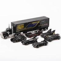 camiones de coches de juguete al por mayor-1:64 6 unids en caja de aleación Bat Chariot modelo de coche traje niños juguetes American Superhero animación plástico camión vehículo niños coche de juguete J190525