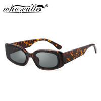 mujer gafas de sol con montura gruesa al por mayor-Estrecho Rectangular gafas de sol mujeres diseñador de la marca Retro Vintage 2019 grueso carey Frame 90S gafas de sol Shades OM704