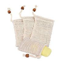 Natural exfoliating Mesh Soap Saver Sisal Soap Saver Bag Pouch Holder for Shower Bath Foaming and Drying of the Soap for Women LX6480