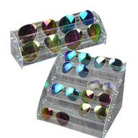 ingrosso scatole acriliche per la visualizzazione-Acrilico Occhiali da sole Organizer 2/6 Layer Display Case Desktop Organizer Occhiali Storage Box Occhiali da sole moda