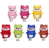 ingrosso bambini zaino animale 3d-Zaino bambino Shark Kids Anti perso Zaini Cartoon School School Bags 3D Animal Kindergarten Tracolla Borse da viaggio GGA2058