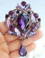 ingrosso pendente di cristallo di lacrima viola-Lusso 3,54