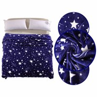 Wholesale bright bedding for sale - Group buy Bright Stars High Density Ultra Soft Warm Plush Flannel Sleep Couch Blanket Bedding For Sofa Bed Car All Season