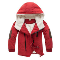 kışlık ceketler unisex parkas toptan satış-Erkek bebek Giysileri Kış Ceket Çocuklar Çocuk Kış Ceket Genç Kapşonlu Çocuk Giyim Çocuk Giyim Parkas Için