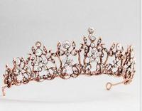 coroas redondas para noivas venda por atacado-Noiva Do Casamento Vestuário Cocar Simples Flor De Diamante Coroa de Liga Rodada Cabelo Hoop Wedding Jewelry Dress Accessories