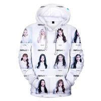 jersey kpop al por mayor-Mujeres / Hombres Sudadera Harajuku Coreana KPOP LOONA Estampado 3D Chaqueta con capucha Unisex Sudadera con capucha de Hip Hop Chándal Suéter Tops