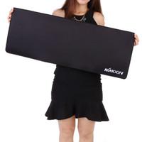 pc için oyun yastığı toptan satış-Dizüstü Bilgisayarlar için büyük Oyun Mouse Pad PC Masaüstü Kenar Klavye 3D Fare Gamer Oyun için Fare Mat Masası Mousepad