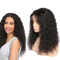 orta saçlı vücut dalgaları toptan satış-10A Vücut Dalga İnsan Saç Dantel Ön Peruk 10-28 inç Brezilyalı Saç Malezya Orta Boy İsviçre Dantel Kap Ağartılmış Knot dantel ön peruk