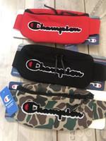 bolsas bordado designer venda por atacado-Bolsas de grife de luxo Campeão Letras Fanny Packs Bordado Cintura Da Lona Saco Unisex Corpo Cruz Peito Saco de Viagem Cintura Praia sacos bolsas