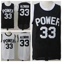 siyah ct toptan satış-Lise 33 Lewis Alcindor Jr Forması Erkekler Basketbol Koleji St Joseph CT Güç Formalar Üniforma Nefes Takım Siyah Uzakta Beyaz