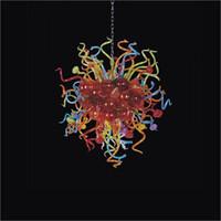 candelabros de cristal de colores modernos al por mayor-Lámpara de cristal soplado hecha a mano de varios colores que se ilumina en estilo turco Decoración de arte Lámpara de cristal soplado Modern Crystal LED AC